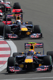 Mark Webber leads Sebastian Vettel in Turkey