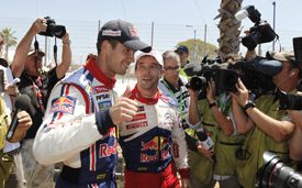 Sebastien Ogier and Sebastien Loeb