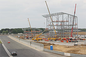 Construction of Silverstone's new pit and paddock complex