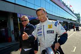 Filip Salaquarda celebrates Brno pole
