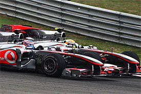 Lewis Hamilton, Jenson Button in Turkey
