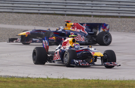 Mark Webber and Sebastian Vettel collide in Turkey
