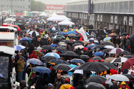 Crowds in the Montreal pits on Thursday