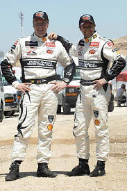 Phil Mills and Petter Solberg