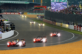 Allan McNish leads the Audis at Le Mans