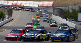 Jimmie Johnson takes the lead at Sears Point