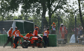 Nicky Hayden crashes in Assen practice