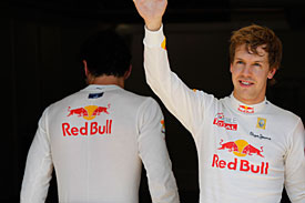 Mark Webber and Sebastian Vettel, Red Bull, Valencia 2010