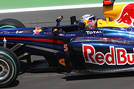 Vettel grabbed his fourth pole of the year