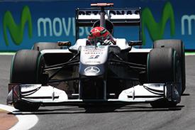 Schumacher again finds himself deep in the pack