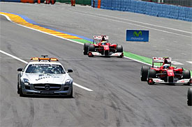 Safety car during the European GP