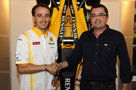 Robert Kubica with Eric Boullier