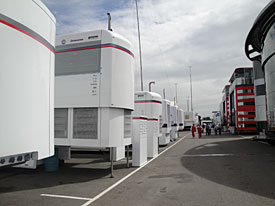 Silverstone paddock