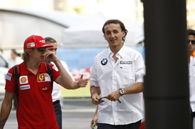 Kimi Raikkonen and Robert Kubica