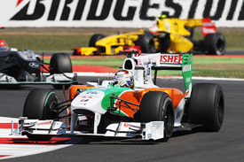 Adrian Sutil, Force India, Silverstone 2010