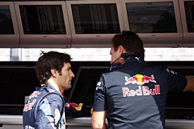 Mark Webber and Christian Horner, Silverstone, 2010