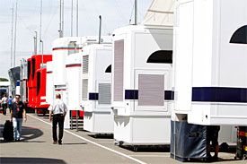 The Silverstone paddock