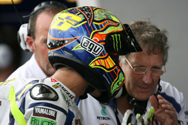 Valentino Rossi and Jeremy Burgess