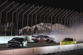 Carl Edwards and Brad Keselowski tangle at Gateway