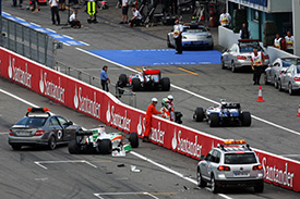 Liuzzi has a lot of work to do after his crash