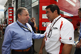 Tyre man Hamashima chats with President Todt
