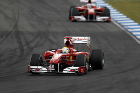 Felipe Massa and Fernando Alonso, Ferrari, Hockenheim 2010