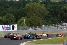 Jules Bianchi and Ho-Pin Tung collide at the Hungaroring
