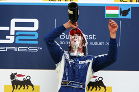 Giacomo Ricci on the Hungaroring podium