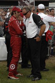 Dario Franchitti and Brian Barnhart
