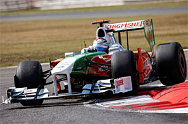 Adrian Sutil during the 2009 Italian GP