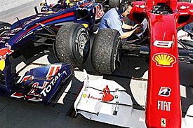 Red Bull and Ferrari, Hungary, 2010