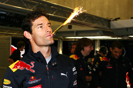 Mark Webber celebrates his birthday at Spa