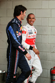 Mark Webber and Lewis Hamilton