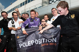 Davide Rigon and Anderlecht celebrate Adria pole