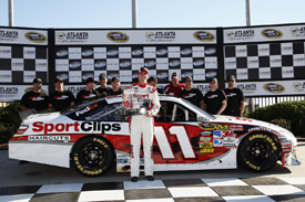 Denny Hamlin takes Atlanta pole