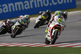 Toni Elias leads the Misano Moto2 race