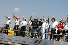Drivers parade in Hungary