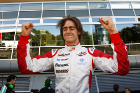 Esteban Gutierrez celebrates Monza pole and the GP3 title