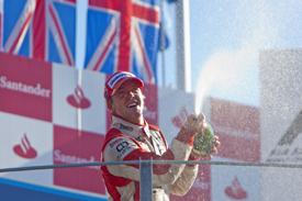 Sam Bird on the Monza podium