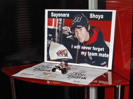 Tribute to Shoya Tomizawa in his former garage