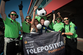 Beijing Gouan and John Martin celebrate Portimao pole
