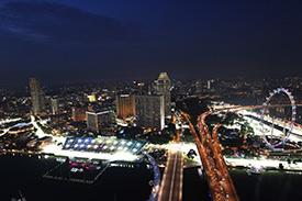 Singapore dazzles by night