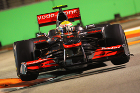 Lewis Hamilton, McLaren, Singapore 2010