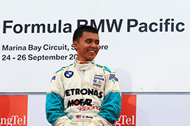 It went right for Wong with victory in Formula BMW