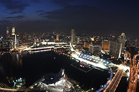 Singapore dazzles by night