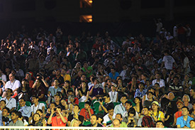 Fans enjoy the spectacle in Singapore