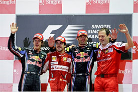 Singapore GP podium