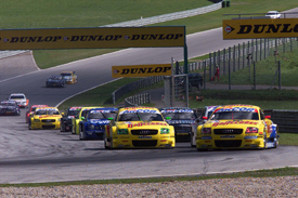 Laurent Aiello leads in the DTM at Zeltweg in 2003