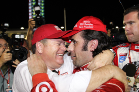 Chip Ganassi congratulates Dario Franchitti