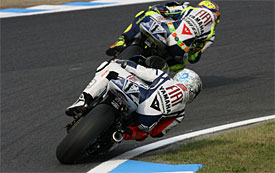 Jorge Lorenzo, Valentino Rossi